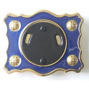 Blue Enamel Buckle with Gilt Finish