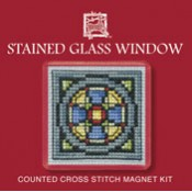 Stained Glass Window Fridge Magnet