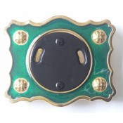 Green Enamel Buckle with Gilt Finish