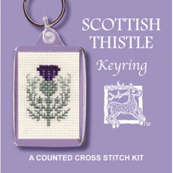 Scottish Thistle Keyring