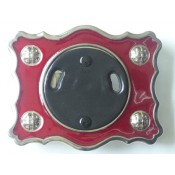 Red Enamel Buckle