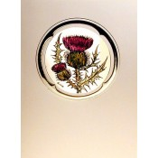 Thistle Window Sticker Stained Glass Card