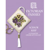 Victorian Pansies Scissor Keep