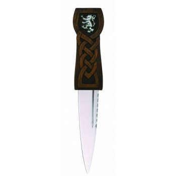 Lion Rampant Wood Effect Sgian Dubh, SD/IR