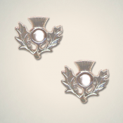 April (Crystal) Thistle Earrings