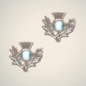 March (Aquamarine) Thistle Earrings