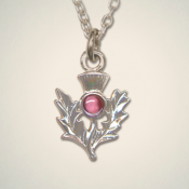 February (Amethyst) Thistle Pendant