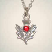 July (Ruby) Thistle Pendant