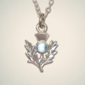 March (Aquamarine) Thistle Pendant