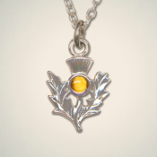 November (Topaz) Thistle Pendant