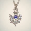Birthstone Thistle Pendants