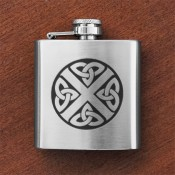 Celtic Saltire Sporran Flask
