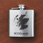 Scotland Map Sporran Flask