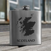 Scotland Map 6oz Flask