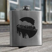 Steam Train 6oz Flask