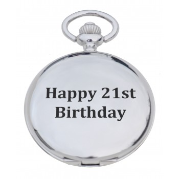 'Happy 21st' Pocket Watch