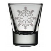 Dram Glass Ships Wheel