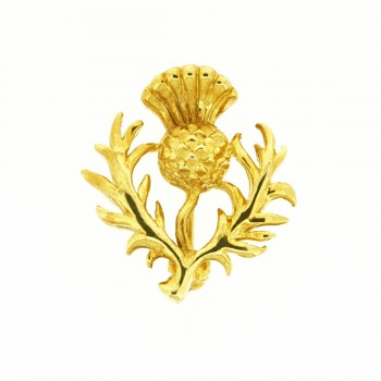 Gold Plated Thistle Brooch SALE