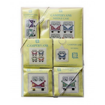 Campervan Cross Stitch Kits Large Gift Pack