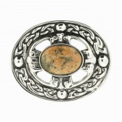 Scotch Pebble Celtic Brooch SALE