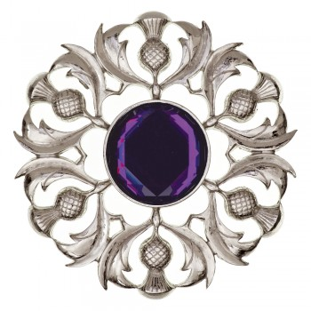 Scottish Thistle Plaid Brooch  234