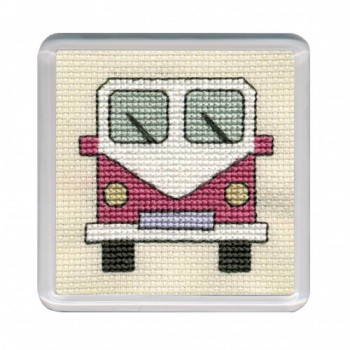 Campervan Coaster - Pink