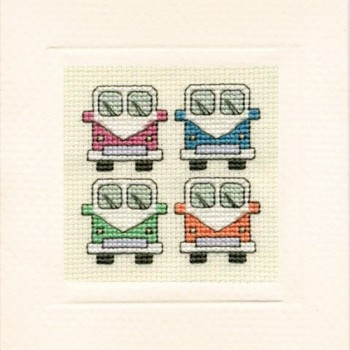Campervans Miniature Card