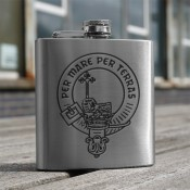 6oz Hip Flask Clan Crest
