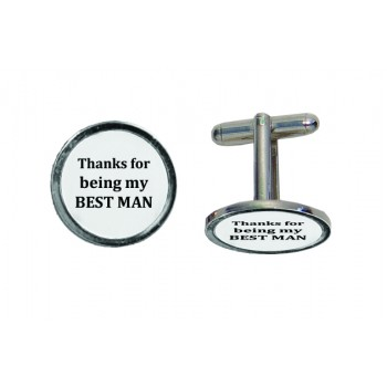 'Best Man' Engraved Cufflinks