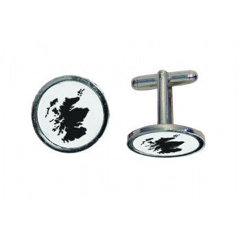 Scotland Map Engraved Cufflinks