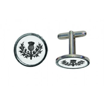 Thistle Engraved Cufflinks