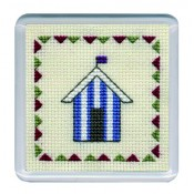 COBHB Beach Huts Coaster - Blue Stripe