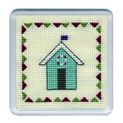 Beach Huts Coaster - Turquoise