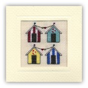 Beach Huts Miniature Card