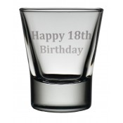 Dram Glass 'Happy 18th'