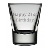 Dram Glass 'Happy 21st'
