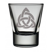 Dram Glass Celtic Interlace