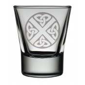 Dram Glass Celtic Saltire