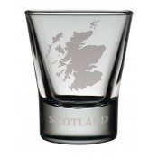 Dram Glass Scotland Map