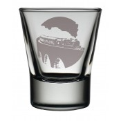 Dram Glass Steam Train